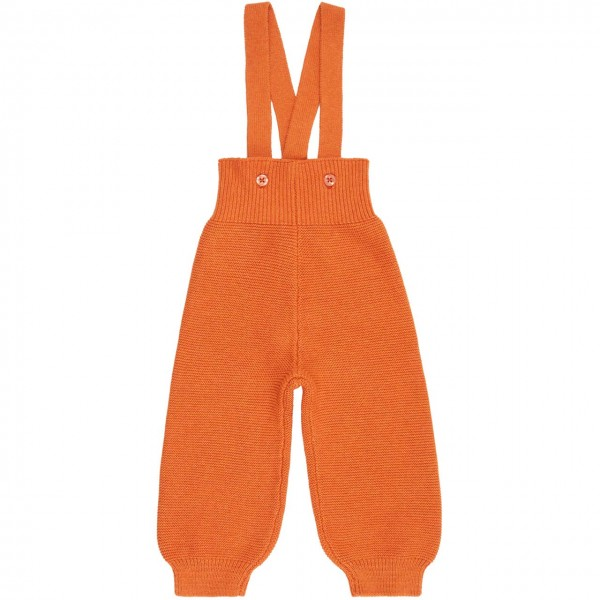 Strick Trägerhose rost-orange