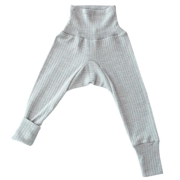 4cc6ada84548 Baumwolle Wolle Seide Leggings grau meliert