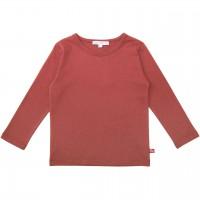 Uni Langarmshirt rost-rot