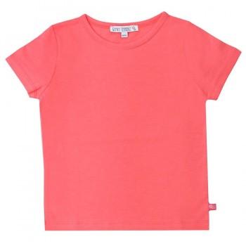 Rosarotes Shirt kurzarm uni Basic