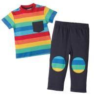 Set aus Hose und Shirt Regenbogen
