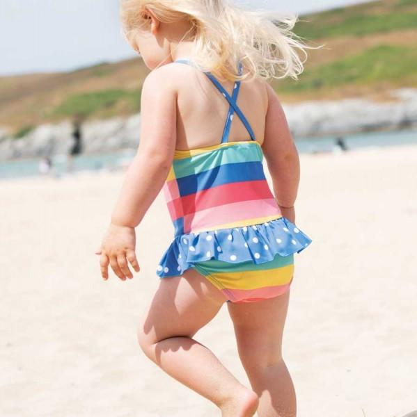 Mädchen Badeanzug Regenbogen