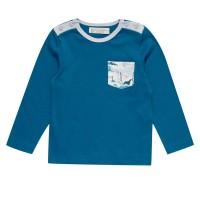 Vorschau: Softes Langarmshirt beidseitig mit Knöpfen und Seitentasche