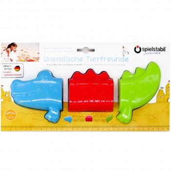 Sandspielzeug Krokodil Sandförmchen 3-teilig