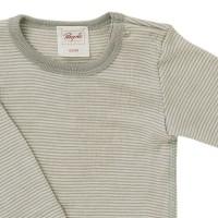 Vorschau: Wolle Seide Baby Body grau gestreift