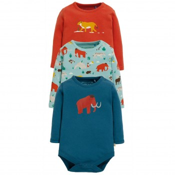 3er Pack Langarmbody Mammut blau
