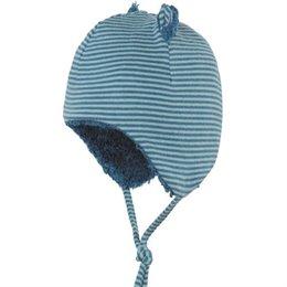 Baby Wintermütze mit Öhrchen aus kuscheliger Biobaumwolle