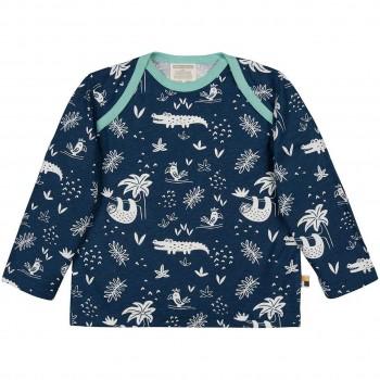 Leichtes Shirt langarm Dschungel dunkelblau