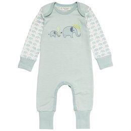 Niedlicher Elefanten Baby Strampler pastell-mint