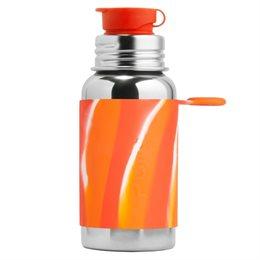 Edelstahl Sportflasche Sportverschluss 550 ml swirl rot