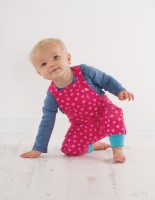 Bio Baby Body dicker flieder blaue Punkte