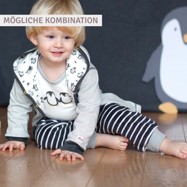 Bio Body Pinguin weiss Interlock