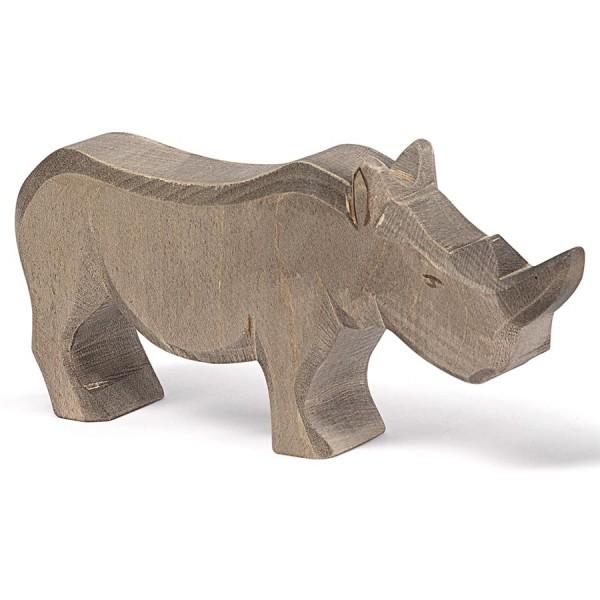 Holz Nashorn Holzfigur 8,5 cm hoch