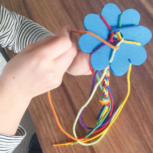 Knüpfblumen Set, blau