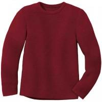 Weicher Linksstrick-Pullover bordeaux