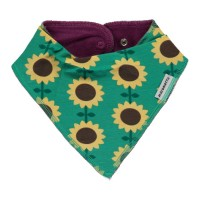 Warmes Baby Dreiecktuch Sonnenblumen grün