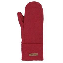 Bio Wolle Kinder Handschuhe neutral kirschrot