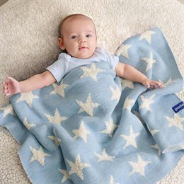 Bio Babydecke Himmel voller Sterne blau