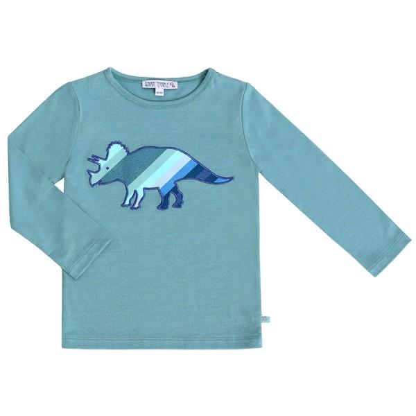 Dino Shirt aufgenäht super edel blau