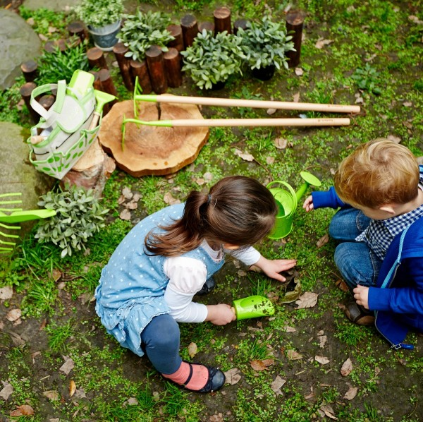 Hochwertiges Gartengeräte Set mit Gießkanne und Tasche