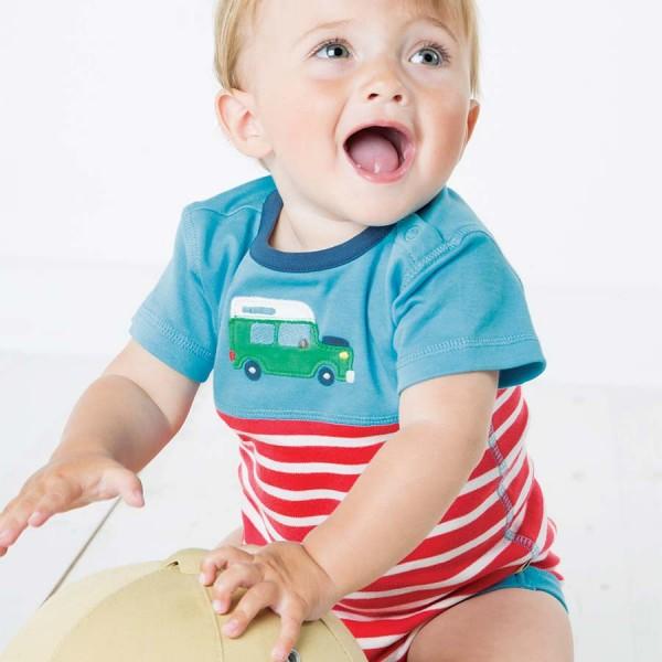 Baby Body mit Automotiv - kurzarm