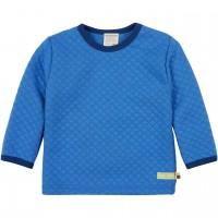 Wattiertes Strick Langarmshirt blau