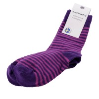 2 Paar Bio Socken lila