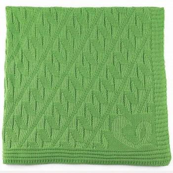 Leichte Öko Babydecke - sehr elastisch zum Pucken - grün
