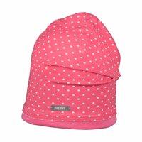 Süsse Baby Beanie Mütze pink Punkte leicht