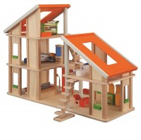 Chalet - modernes, flexibles Puppenhaus, möbliert