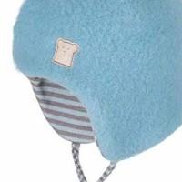 Vorschau: Bio Wintermütze Schurwolle innen aus Wolle Seide - neutral
