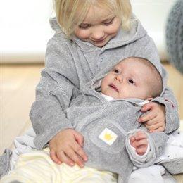 Bio Babyjacke aus warmen Frottee - Prinz