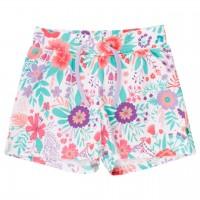 Leichte Mädchen Shorts weiß Aloha Muster