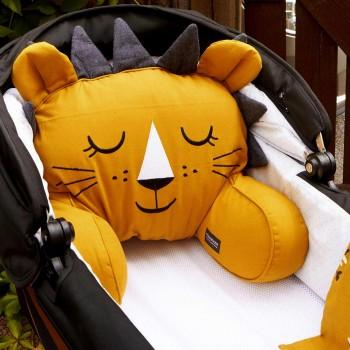 Sitzkissen für Kinderwagen und Bett - Löwe