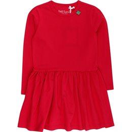 Bio Mädchenkleid langer Arm rot