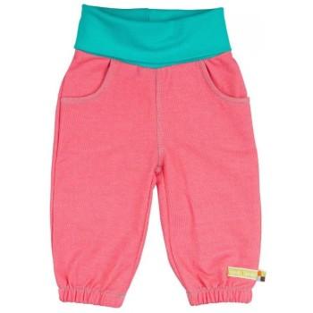 Weiche Mädchenhose Jeansoptik pink