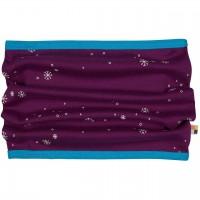 Warmer Schlauchschal Schneeflocken in lila