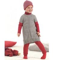 Vorschau: Mitwachsende Strick Leggings 100% Merino Schurwolle grau