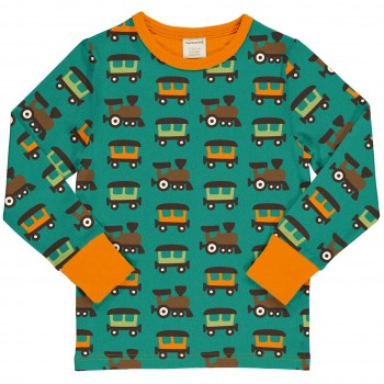 Eisenbahn Shirt langarm in petrol