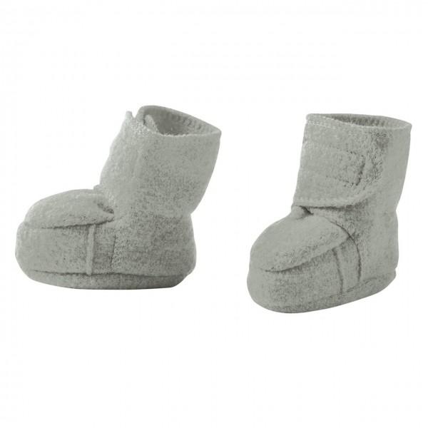 buy popular f2a77 042d2 Warme Babyschuhe Klettverschluss Schurwolle grau