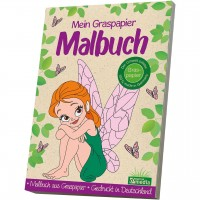 Mein Graspapier Malbuch - Feen