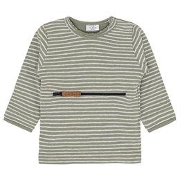 Sweatshirt Khaki Reißverschlusstasche
