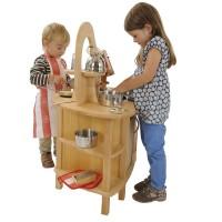 Hochwertige & robuste Spielküche - doppelseitig bespielbar