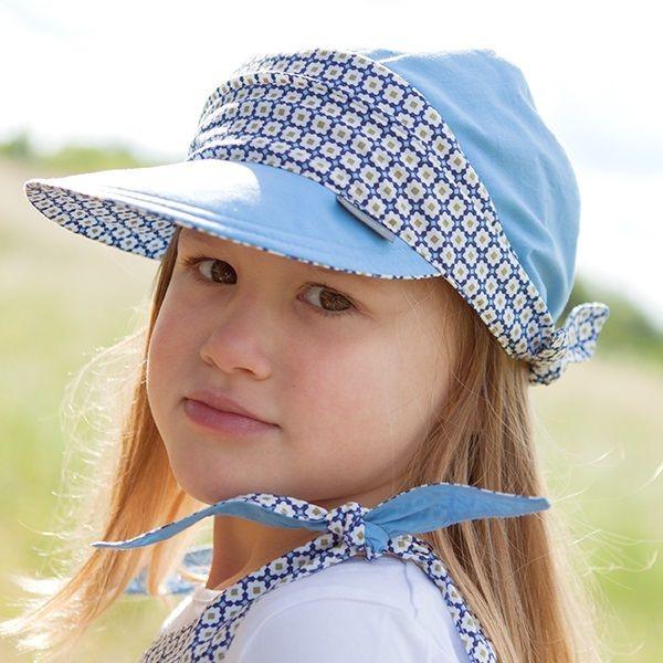 Sportliches Mädchen Capi pure pure aus Biobaumwolle - blau