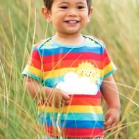 Regenbogen T-Shirt kurzarm mit Sonne