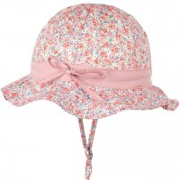 Sommermütze verstellbar rosa Blumen