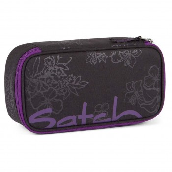 Schlamperbox satch mit Organisierfach Purple Hibiscus