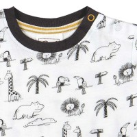 Vorschau: Leichtes T-Shirt moderner All-Over-Print Zoo