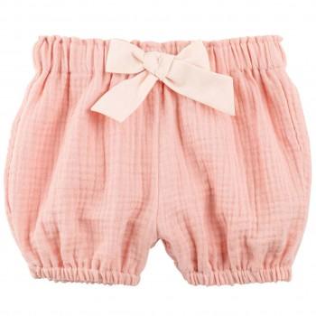 Baby Shorts Musselin pfirsich-koralle Ton