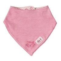 Wendehalstuch rosa Katze Druckknopf